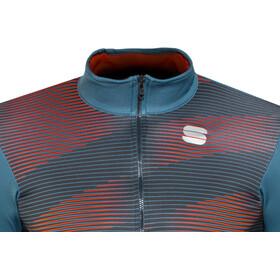 Sportful Moire Thermal LS Jersey Men blue stellar/red fluo